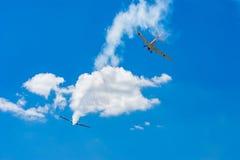 Dwa stary śmigłowy samolot Fotografia Stock