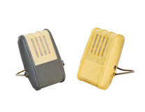 Dwa stary mikrofon Zdjęcia Stock