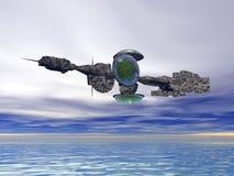 dwa statku kosmicznego. ilustracja wektor