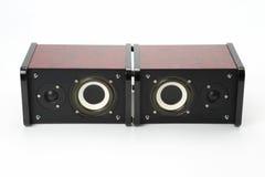 Dwa stereo audio mówcy na białym tle Zdjęcie Stock