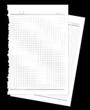 Dwa strony drzejącej od notatnika Obrazy Stock