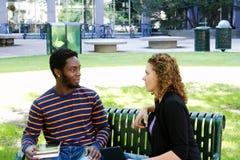 Dwa Studenta Uniwersytetu Obrazy Stock