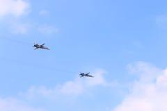Dwa Su-24 samolotu na airshow Zdjęcie Royalty Free