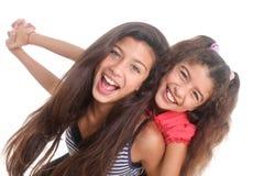 dwa szczęśliwe dziewczyny Zdjęcie Royalty Free