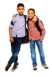 Szczęśliwy dwa brata Zdjęcie Stock