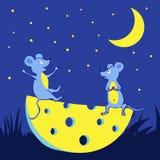 Dwa szczęśliwego sera i myszy ilustracji