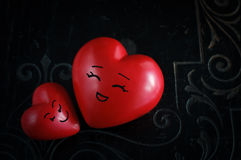 Dwa Szczęśliwego serca Zdjęcie Stock