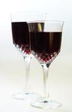 Dwa szkła wino na białym tle Obrazy Stock