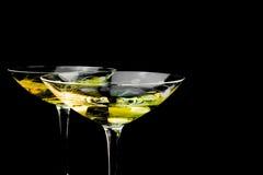 Dwa szkła z złocistym szampanem Obraz Royalty Free