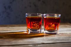 Dwa szkła stary whisky Fotografia Royalty Free
