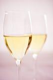 dwa szklanek wina Obrazy Royalty Free