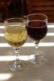 dwa szklanek wina Fotografia Stock