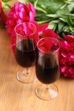 dwa szklanek wina Zdjęcia Royalty Free