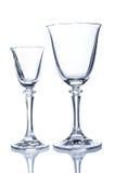 dwa szklanek wina Obrazy Stock