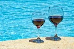 dwa szklanek wina Fotografia Royalty Free
