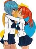 Dwa szkolnej dziewczyny ilustracji