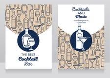 Dwa sztandaru dla koktajlu baru royalty ilustracja