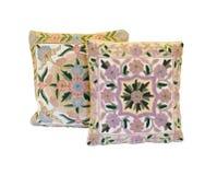 Dwa szydełkującej poduszki Obraz Royalty Free