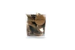 Dwa Tajlandzkiego bahta moneta odizolowywająca na białym tle Zdjęcia Stock