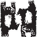 Dwa Tanczą niedźwiedzia Obrazy Stock