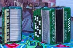 Dwa Tatar harmonijki, instrumenty muzyczni fotografia stock