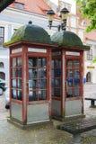 Dwa Telefonicznego Booths fotografia royalty free