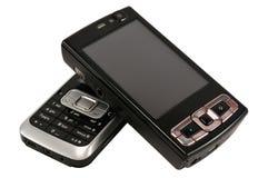 dwa telefony komórkowe. zdjęcie royalty free