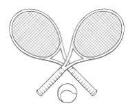 Dwa Tenis Pilki I Kanty Ilustracja Wektor Ilustracja Zlozonej Z