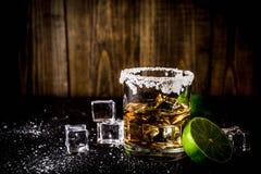 Dwa tequila strzału szkła Fotografia Royalty Free