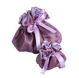 Dwa torby purpurowej Obrazy Royalty Free
