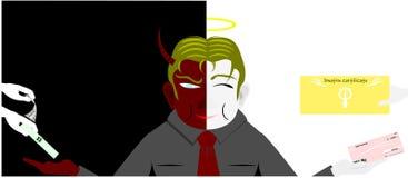 Dwa twarzy biznesowy mężczyzna Zdjęcie Stock