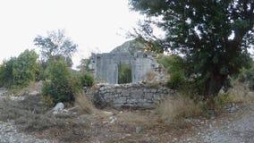 Dwa tysiące rok ruiny Lycian miasto Olympos zdjęcie wideo
