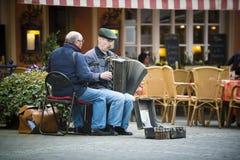 Dwa ulicznego muzyka Zdjęcie Royalty Free