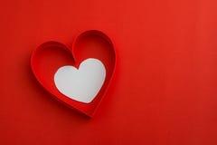 Dwa valentine papierowego serca Zdjęcie Stock