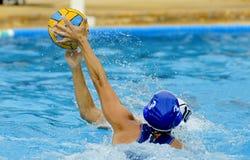 Dwa waterpolo gracza Zdjęcie Stock