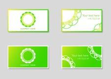 Dwa wektorowego wizytówka szablonu z firma logem ilustracja wektor