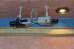 Dwa wewnętrznej inwigilacji kamery zdjęcie royalty free