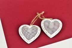 Dwa wiązanego serca Fotografia Stock