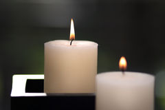 dwa świece Fotografia Royalty Free