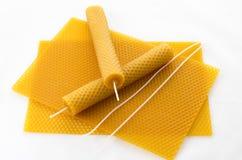 Dwa Świeczek honeycomb Fotografia Stock