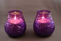 Dwa świeczki Obrazy Stock