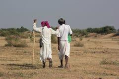 Dwa Wiejski Indiański tradycyjny ubiór Obraz Royalty Free