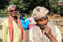 Dwa Wiejski Indiański tradycyjny ubiór Obraz Stock