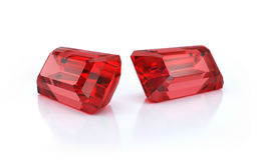 Dwa wielkiego rubinu Fotografia Royalty Free