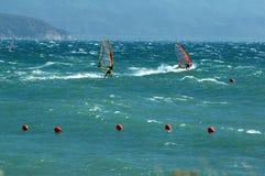 dwa windsurfer Zdjęcie Stock