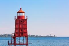 Dwa Wisconsin latarni morskiej obraz royalty free