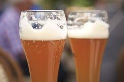Dwa wyśmienicie piwa Obrazy Stock