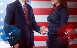 Dwa wyborów kandydatów uścisk dłoni Fotografia Stock