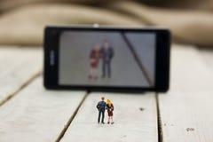 Dwa wzorcowego ludzie bierze selfie fotografia royalty free