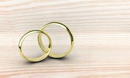 Dwa złocistego pierścionku Obrazy Royalty Free